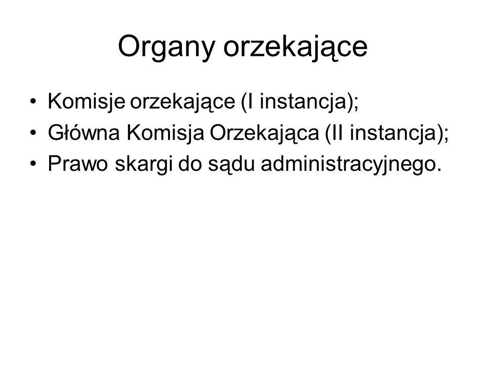 Organy orzekające Komisje orzekające (I instancja);