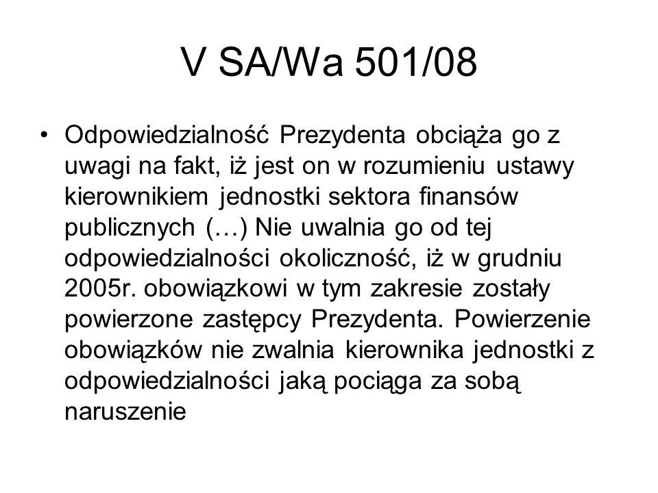 V SA/Wa 501/08