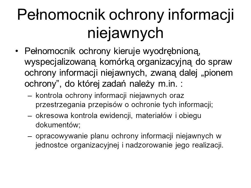 Pełnomocnik ochrony informacji niejawnych