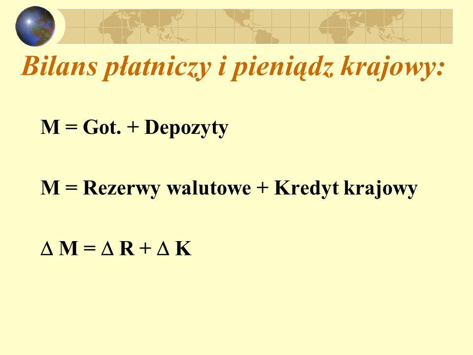 Bilans płatniczy i pieniądz krajowy: