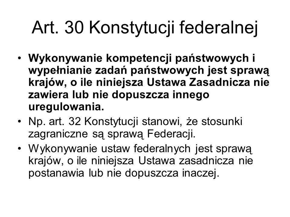 Art. 30 Konstytucji federalnej