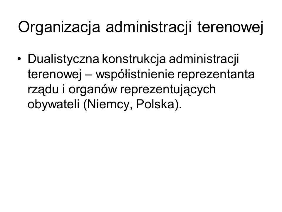 Organizacja administracji terenowej