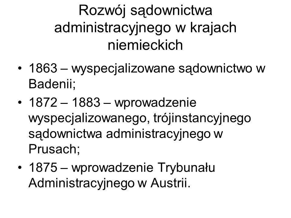 Rozwój sądownictwa administracyjnego w krajach niemieckich