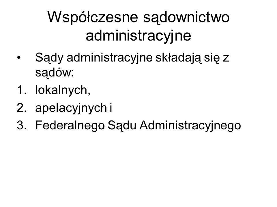 Współczesne sądownictwo administracyjne