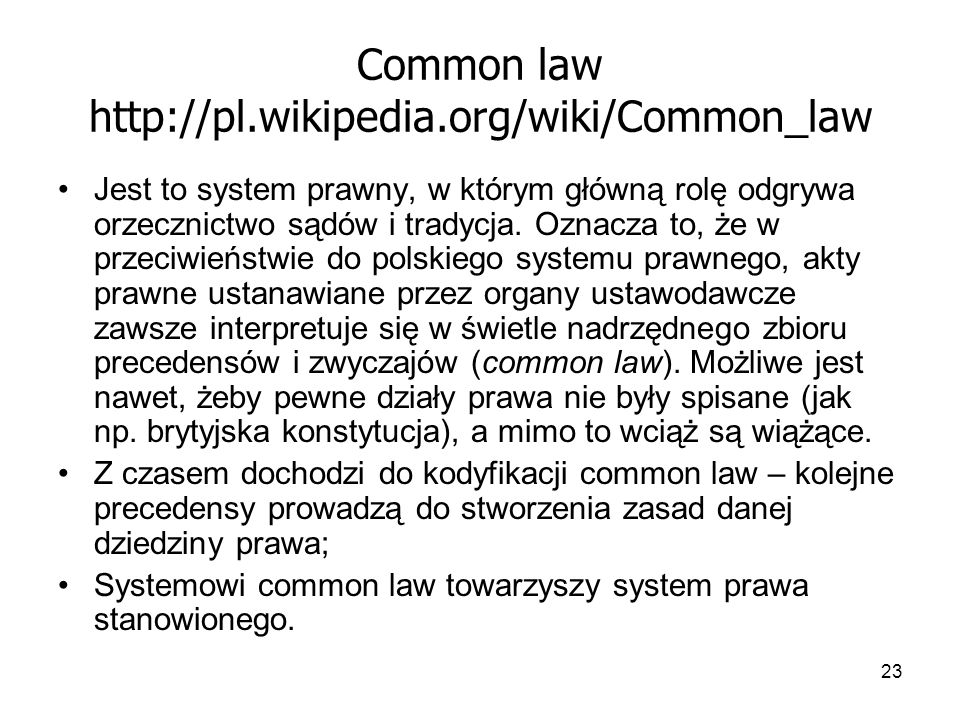 Common law