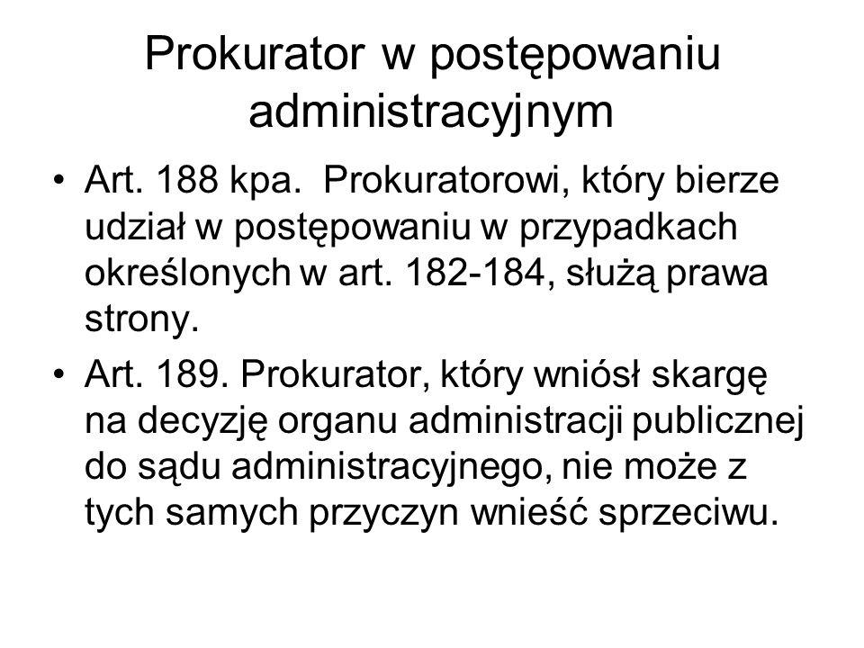 Prokurator w postępowaniu administracyjnym