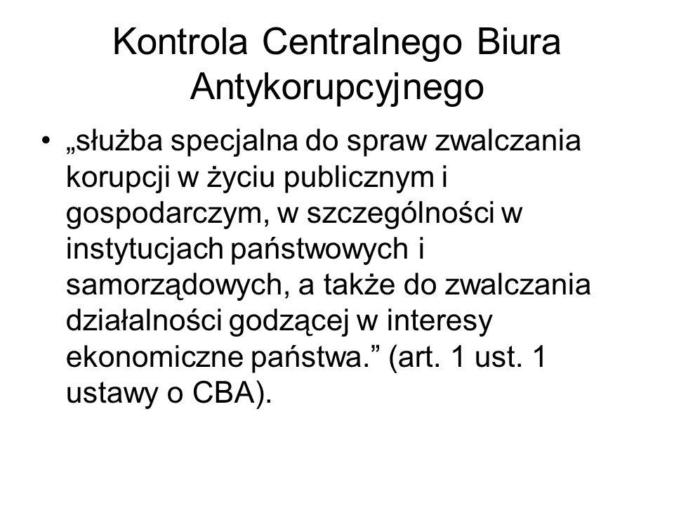 Kontrola Centralnego Biura Antykorupcyjnego
