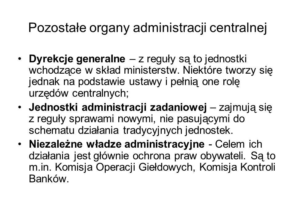 Pozostałe organy administracji centralnej