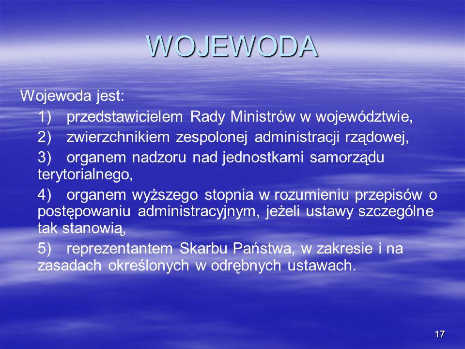 WOJEWODA Wojewoda jest: