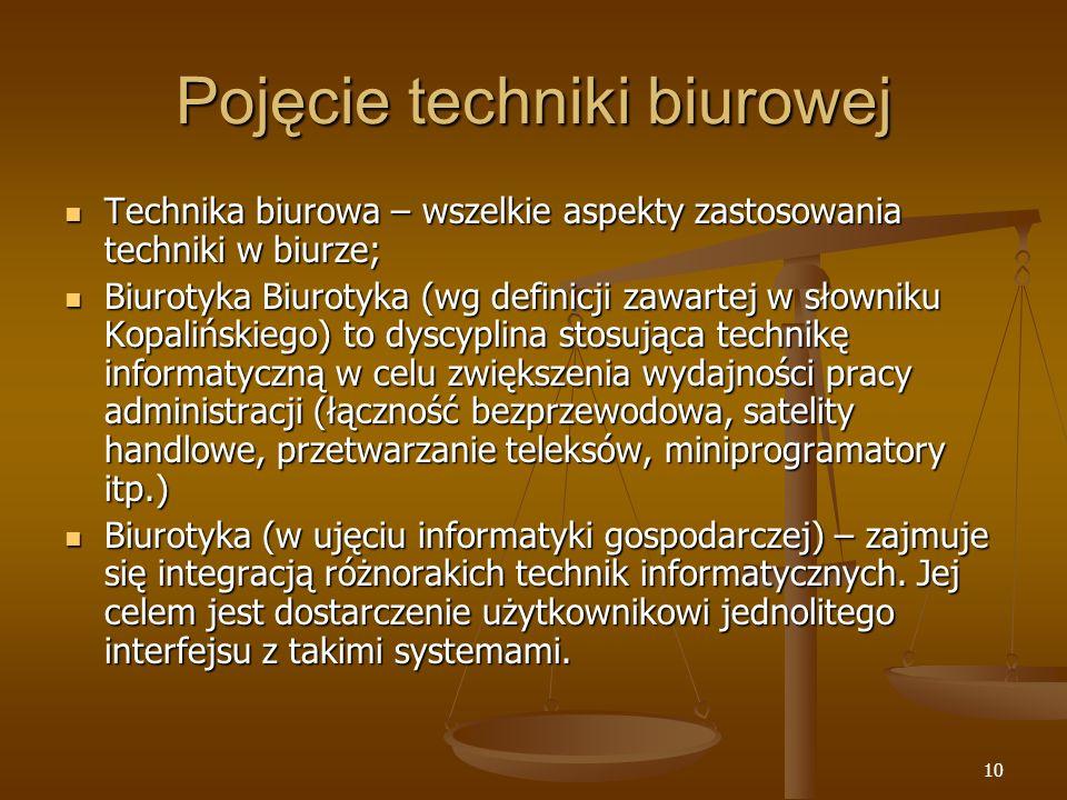 Pojęcie techniki biurowej