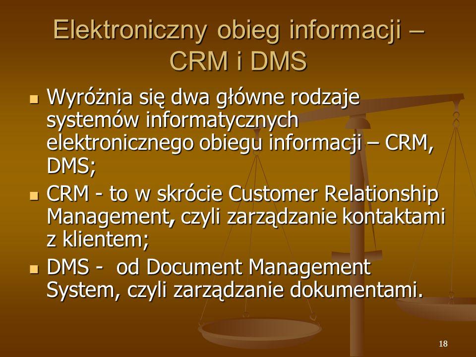 Elektroniczny obieg informacji – CRM i DMS