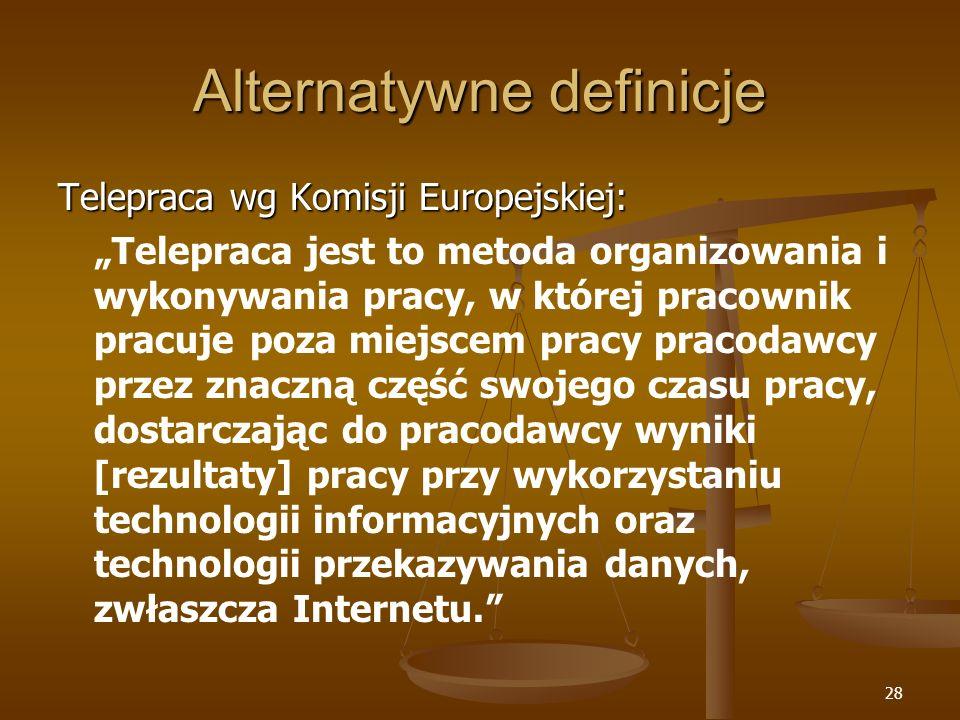 Alternatywne definicje