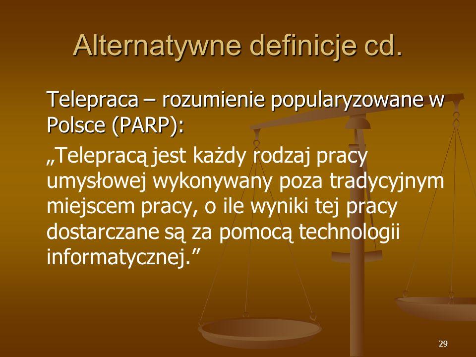 Alternatywne definicje cd.