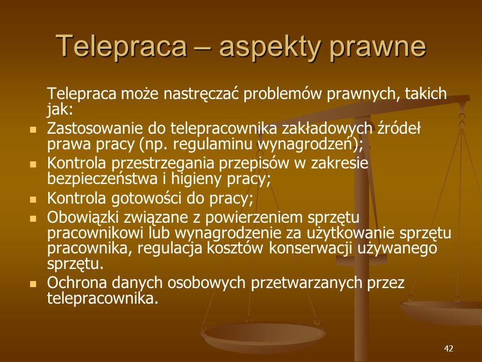 Telepraca – aspekty prawne