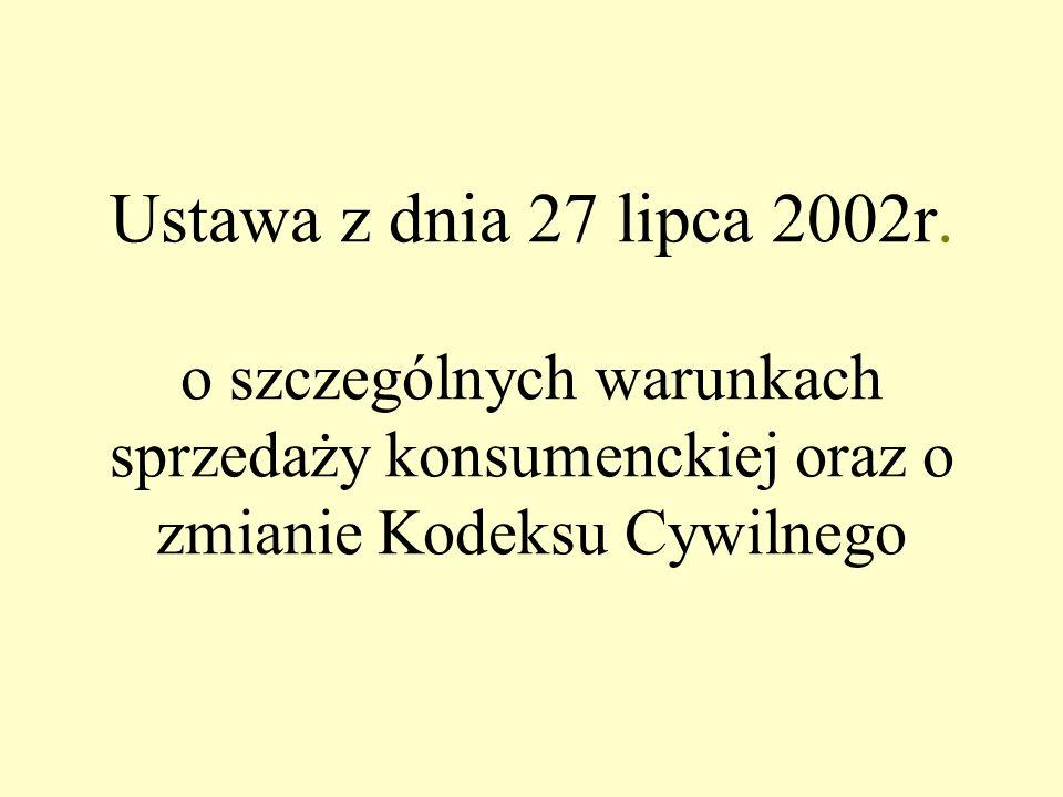 Ustawa z dnia 27 lipca 2002r.