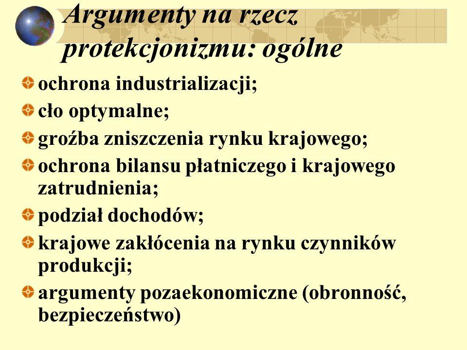 Argumenty na rzecz protekcjonizmu: ogólne