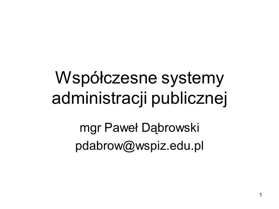 Współczesne systemy administracji publicznej