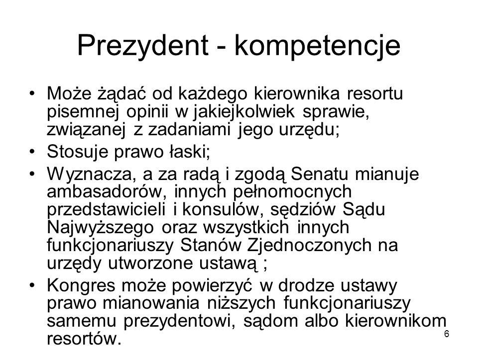 Prezydent - kompetencje