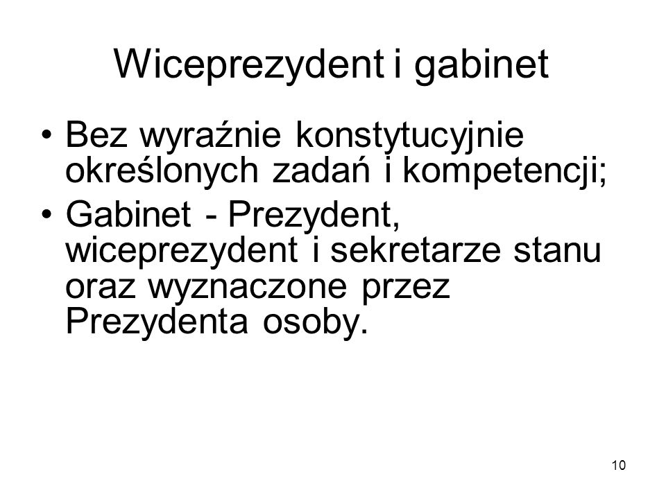 Wiceprezydent i gabinet