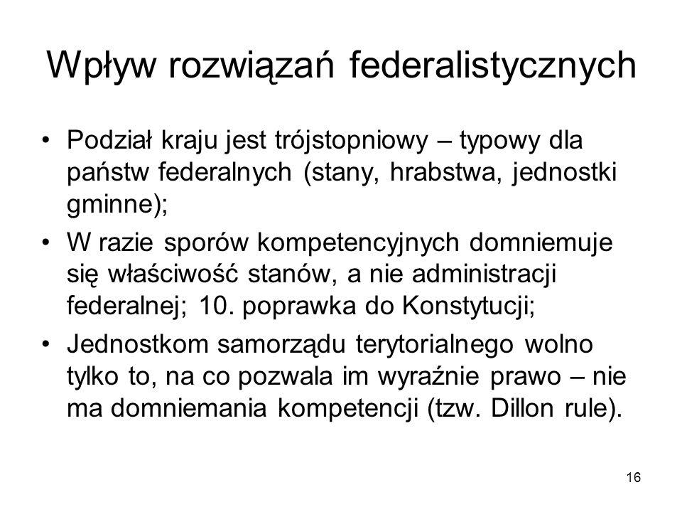 Wpływ rozwiązań federalistycznych