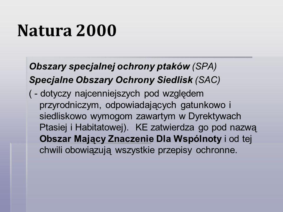 Natura 2000 Obszary specjalnej ochrony ptaków (SPA)
