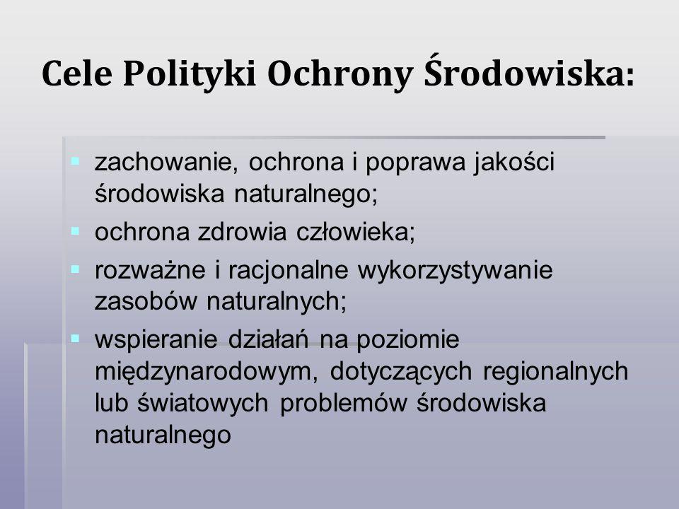 Cele Polityki Ochrony Środowiska: