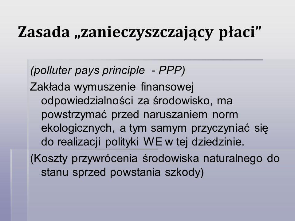"""Zasada """"zanieczyszczający płaci"""