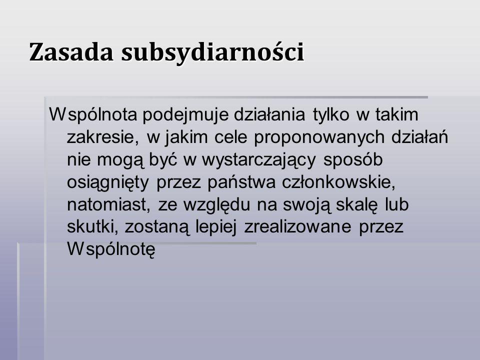 Zasada subsydiarności