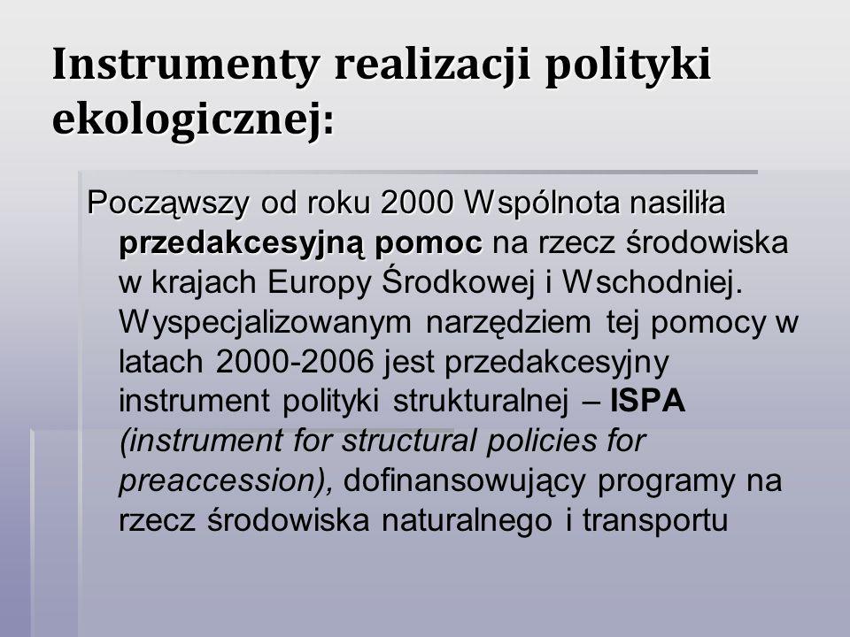 Instrumenty realizacji polityki ekologicznej: