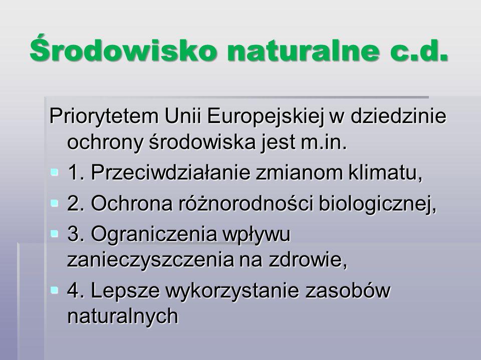Środowisko naturalne c.d.