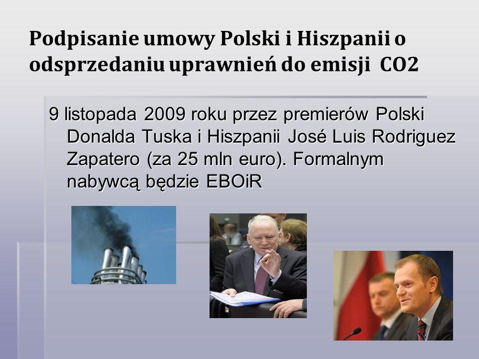 Podpisanie umowy Polski i Hiszpanii o odsprzedaniu uprawnień do emisji CO2
