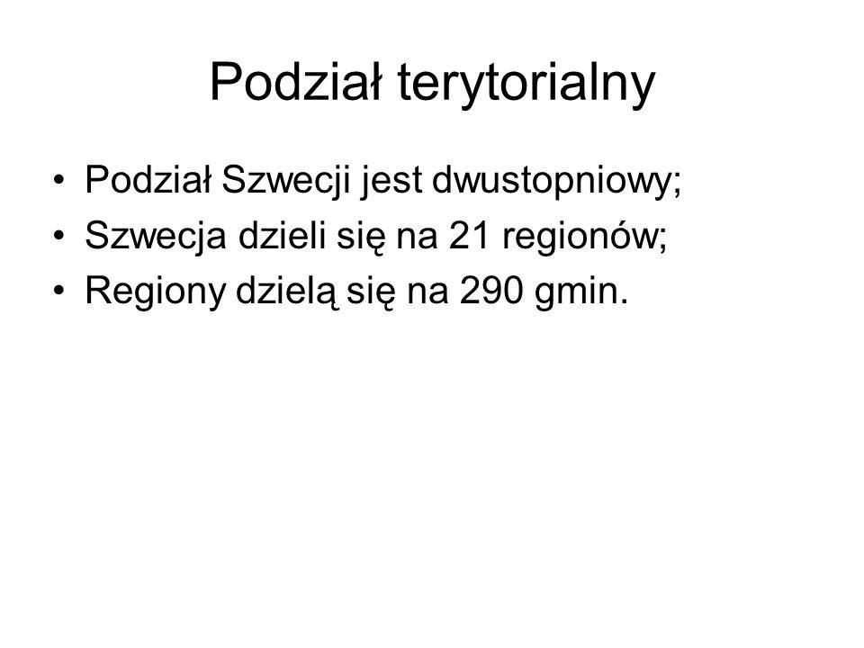 Podział terytorialny Podział Szwecji jest dwustopniowy;