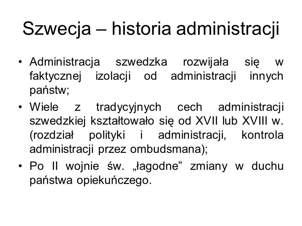 Szwecja – historia administracji