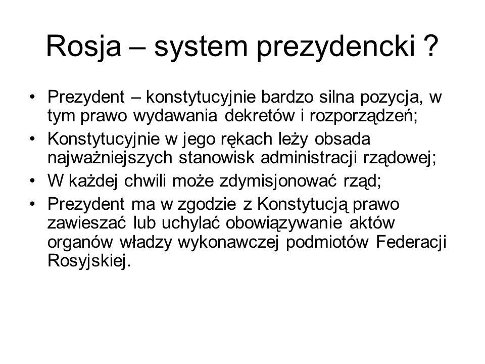 Rosja – system prezydencki