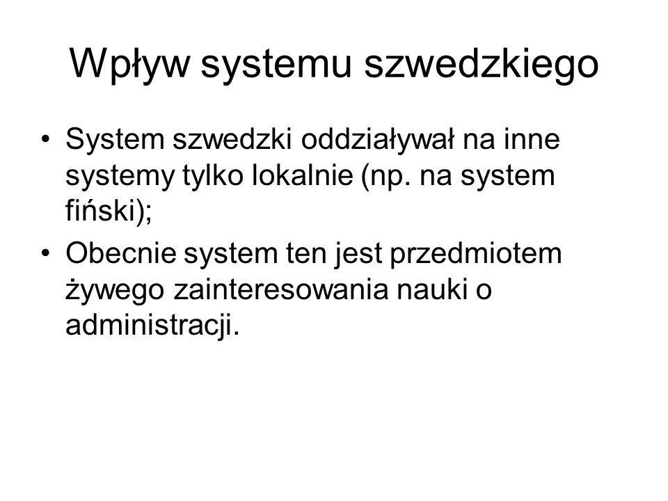 Wpływ systemu szwedzkiego