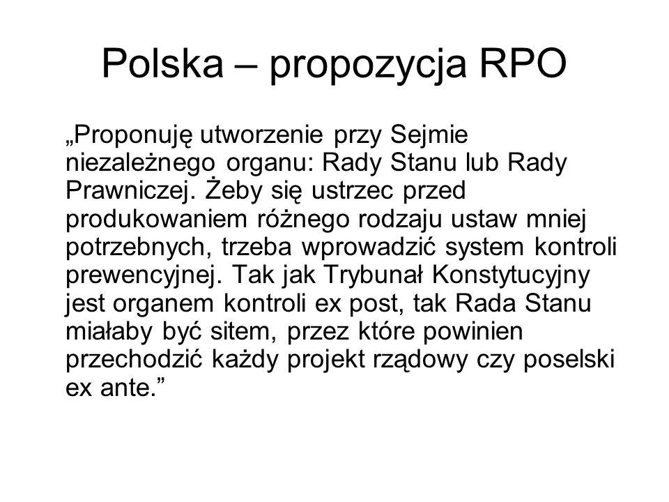 Polska – propozycja RPO