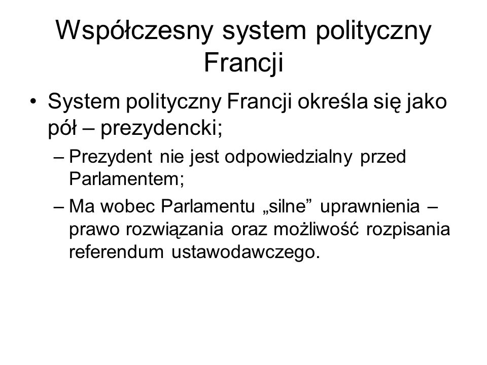 Współczesny system polityczny Francji