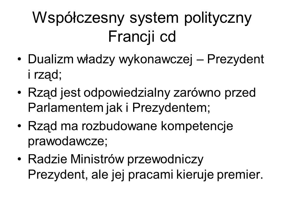 Współczesny system polityczny Francji cd
