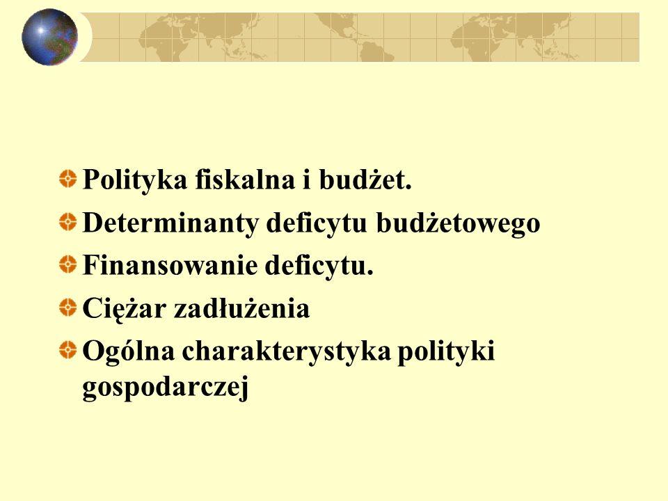 Polityka fiskalna i budżet.