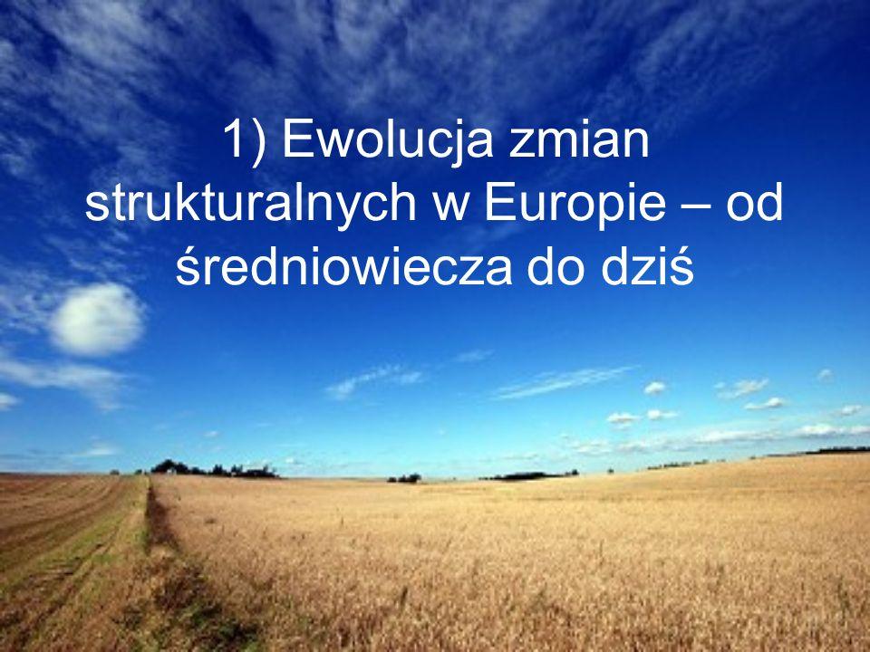 1) Ewolucja zmian strukturalnych w Europie – od średniowiecza do dziś
