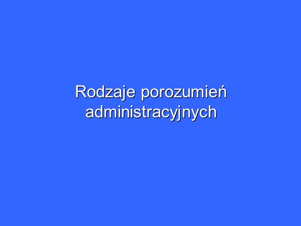 Rodzaje porozumień administracyjnych