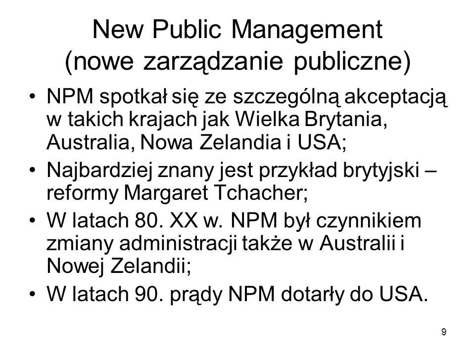 New Public Management (nowe zarządzanie publiczne)