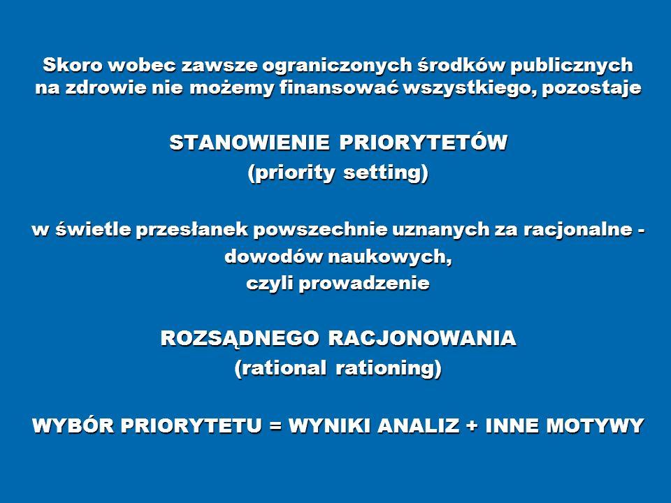 STANOWIENIE PRIORYTETÓW (priority setting)