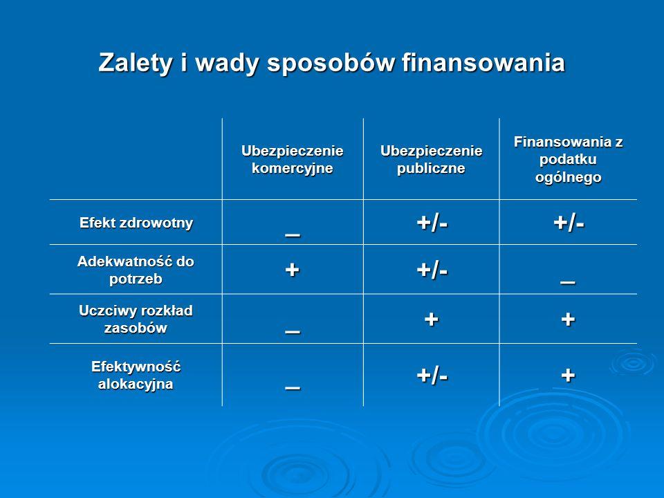 Zalety i wady sposobów finansowania