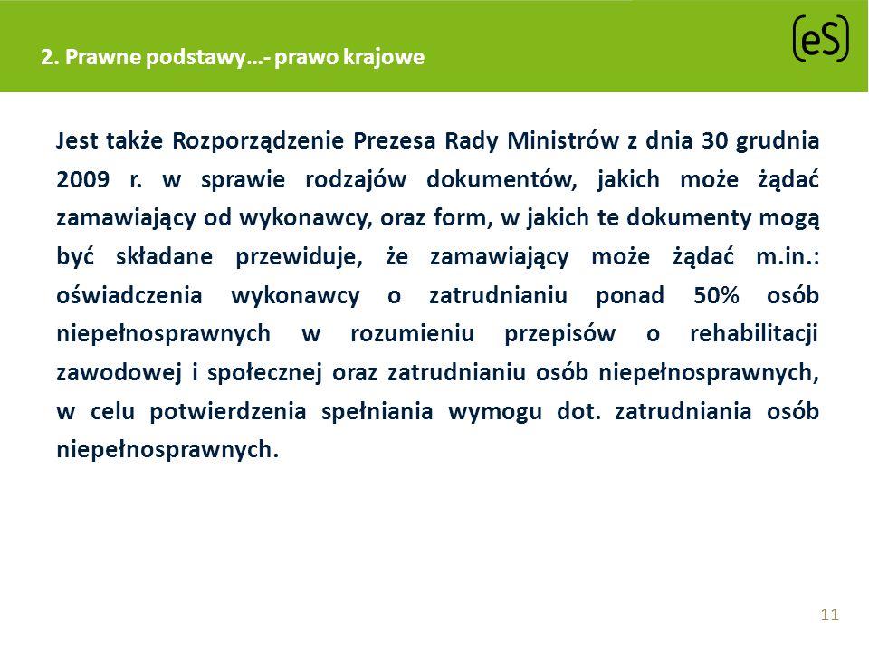 2. Prawne podstawy…- prawo krajowe