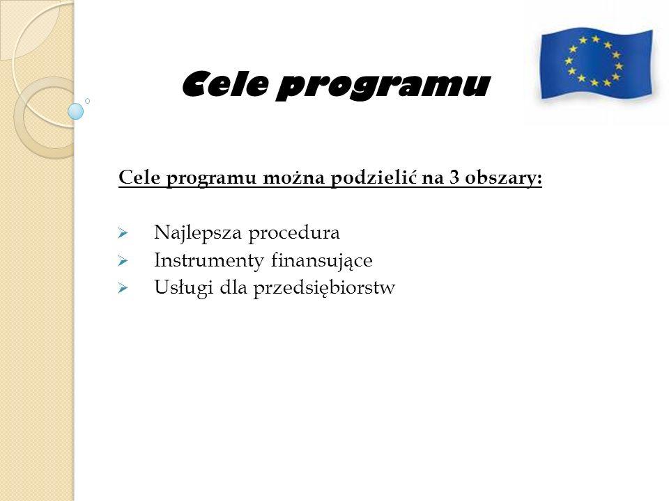 Cele programu Cele programu można podzielić na 3 obszary: