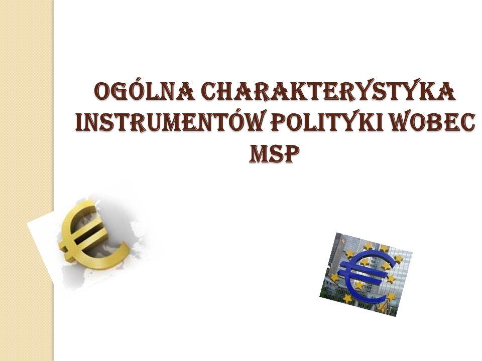 OgÓLNA CHARAKTERYSTYKA INSTRUMENTÓW POLITYKI WOBEC MSP