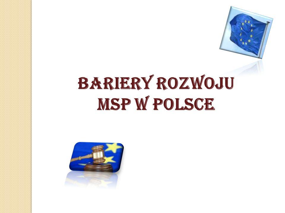BARIERY ROZWOJU MSP W POLSCE