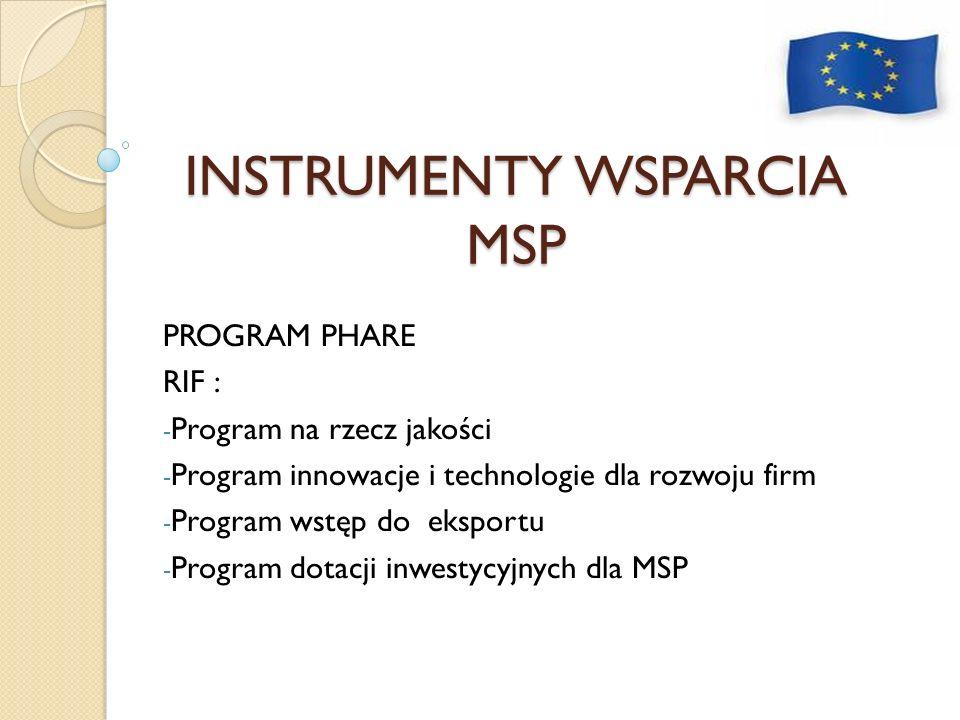 INSTRUMENTY WSPARCIA MSP