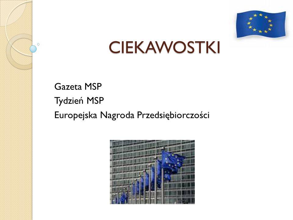 Gazeta MSP Tydzień MSP Europejska Nagroda Przedsiębiorczości